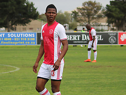 Ajax Cape Town midfielder Rodrick Kabwe in a friendly game v NFD club Cape Town All Stars at Ikamva on August 10, 2017 in Cape Town, South Africa.