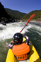 White water rafting along the wild and scenic Rogue River in southern Oregon.