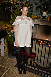 Laura Pradelska at The Ivy Chelsea Garden's Guy Fawkes Party, 197 King's Road, London, England. 05 November 2017.