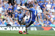 Cesc Fabregas of Chelsea scores from a penalty to make it 1-0. Barclays Premier league match, Chelsea v Leicester city at Stamford Bridge in London on Sunday 15th May 2016.<br /> pic by John Patrick Fletcher, Andrew Orchard sports photography.