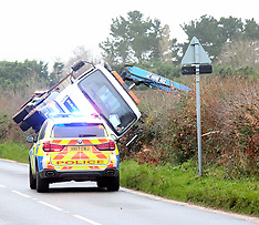 Lorry Over Turned  on Staplers Road