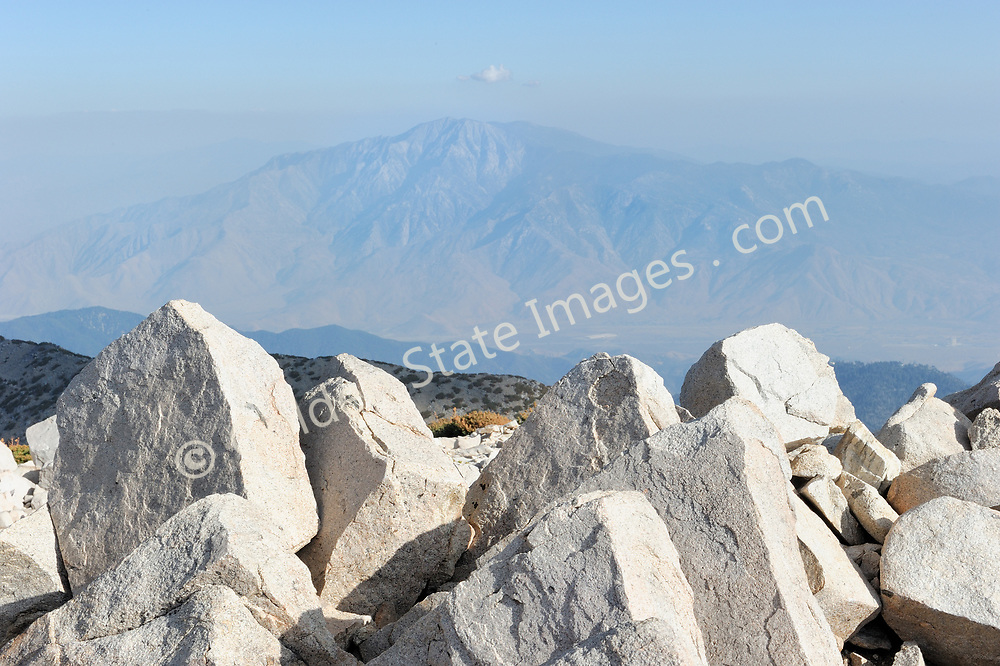 At an elevation of 11,500 feet, granite boulders mark the highest point in Southern California.