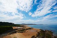 Loredo. Playa de Loredo con la Bahia de Santander al fondo