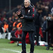 Galatasaray's headcoach Mustafa Denizli during their Turkish Super League soccer match Galatasaray between Akhisar Belediye Genclik ve Spor at the AliSamiYen Spor Kompleksi TT Arena at Seyrantepe in Istanbul Turkey on Sunday, 20 December 2015. Photo by Aykut AKICI/TURKPIX