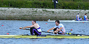 Reading. United Kingdom. GBR M2-, Bow. Alan SINCLAIR and Nathaniel REILLY-O'DONNELL, morning time trial, Redgrave and Pinsent Rowing Lake. Caversham.<br /> <br /> 11:06:05  Saturday  19/04/2014<br /> <br />  [Mandatory Credit: Peter Spurrier/Intersport<br /> Images]
