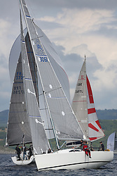 The Silvers Marine Scottish Series 2014, organised by the  Clyde Cruising Club,  celebrates it's 40th anniversary.<br /> IRL3061, Fools Gold, Robert McConnell, A35<br /> Final day racing on Loch Fyne from 23rd-26th May 2014<br /> <br /> Credit : Marc Turner / PFM
