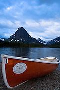 Canoe at Two Medicine. Glacier National Park, Montana.