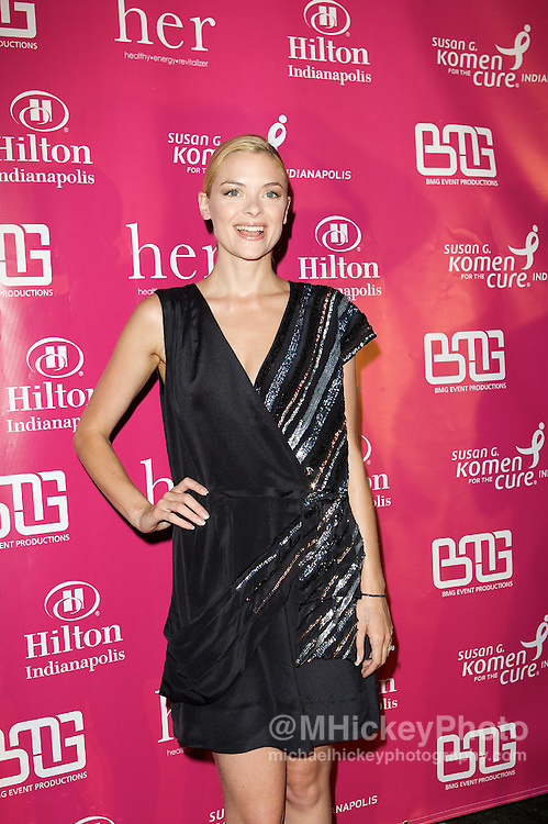 Actress Jamie King appears on the Pink Carpet at the Her House event at the Mavris in Indianapolis, Indiana.<br /> Photo by Michael Hickey