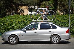 May 28, 2017 - Bydgoszcz, Poland - A man is seen fastening his racing bike to his car on 28 May, 2017. (Credit Image: © Jaap Arriens/NurPhoto via ZUMA Press)