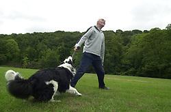Eddie Sander with his Dogs Jackson and Inka<br /><br />18 June 2004<br /><br />Copyright Paul David Drabble<br /> [#Beginning of Shooting Data Section]<br />Nikon D1 <br /> Focal Length: 17mm<br /> Optimize Image: <br /> Color Mode: <br /> Noise Reduction: <br /> 2004/06/18 09:33:58.0<br /> Exposure Mode: Manual<br /> White Balance: Auto<br /> Tone Comp: Normal<br /> JPEG (8-bit) Fine<br /> Metering Mode: Center-Weighted<br /> AF Mode: AF-S<br /> Hue Adjustment: <br /> Image Size:  2000 x 1312<br /> 1/200 sec - F/8<br /> Flash Sync Mode: Not Attached<br /> Saturation: <br /> Color<br /> Exposure Comp.: 0 EV<br /> Sharpening: Normal<br /> Lens: 17-35mm F/2.8-4<br /> Sensitivity: ISO 200<br /> Image Comment: <br /> [#End of Shooting Data Section]