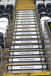 The steops in main stand with St Mirren past stars during the Ladbrokes Scottish Premier League match at St Mirren Park, St Mirren.