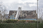 © Licensed to London News Pictures. 01/04/2015. Bicester, UK Fire officers at the scene of a fire at Bicester Village in Bicester, Oxfordshire. A fire broke out at Carluccios restaurant causing the centre to be evacuated. Photo credit : Stephen Simpson/LNP