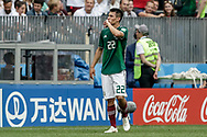 Hirving Lozano of Mexico celebrates after his goal during the 2018 FIFA World Cup Russia, Group F football match between Germany and Mexico on June 17, 2018 at Luzhniki Stadium in Moscow, Russia - Photo Thiago Bernardes / FramePhoto / ProSportsImages / DPPI