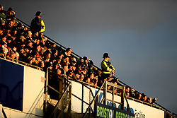 The Sun sets as Police watch the match from the Poplar Stand at the Memorial Ground as Bristol Rovers face Plymouth Argyle in the 2nd Round of the FA Cup - Mandatory by-line: Ryan Hiscott/JMP - 01/12/2019 - FOOTBALL - Memorial Stadium - Bristol, England - Bristol Rovers v Plymouth Argyle - Emirates FA Cup second round