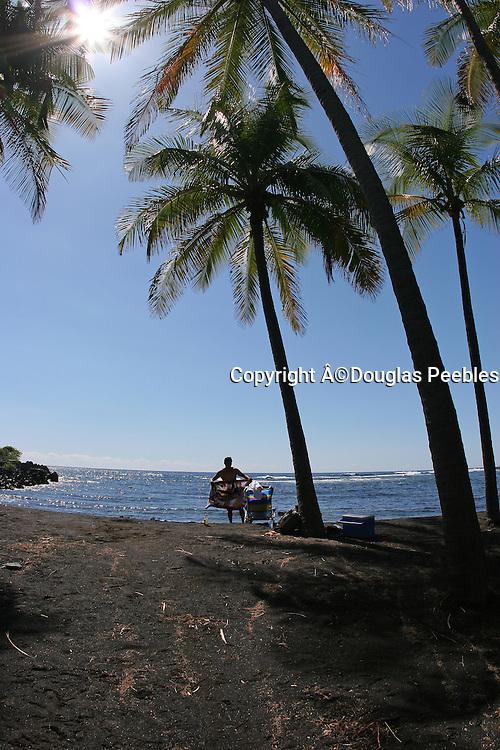 Punalu'u Black Sand Beach, Island of Hawaii