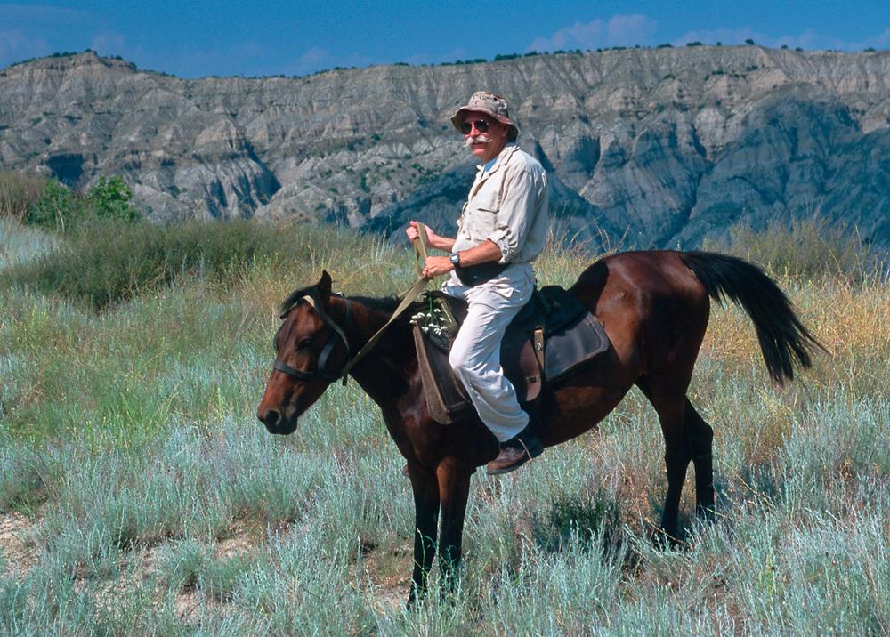 Bill Supernaugh, Superintendent of Badlands National Park, horseback riding in Vashlovani National Park, The Country of Georgia