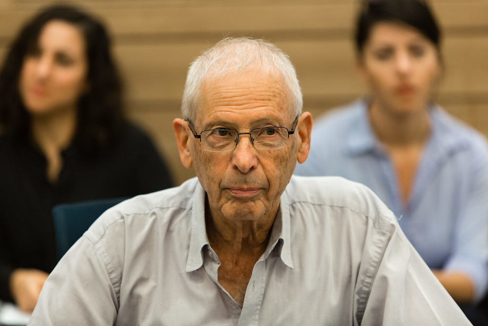 Israeli lawmaker Benny Begin, at the Knesset, Israel's parliament in Jerusalem, on October 31, 2016.
