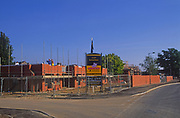 A084MD Construction site of new housing development Rendlesham Suffolk England