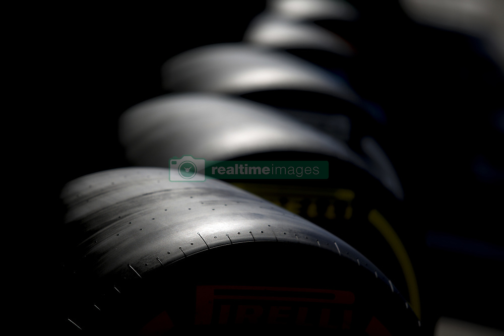 June 22, 2018 - Le Castellet, France - Motorsports: FIA Formula One World Championship 2018, Grand Prix of France, .Pirelli, tire, tires, tyre, tyres, wheel, wheels, Reifen, Rad, feature  (Credit Image: © Hoch Zwei via ZUMA Wire)