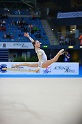 Chaboud Ambre-during qualifying at hoop in Pesaro World Cup at Adriatic Arena on April 26, 2013. Lucille is a French individual rhythmic gymnast was born on 1997 in Bourgoin Jallieu, France.