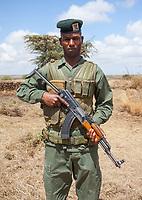 A ranger in Kenya