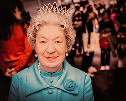 COLLECT: Joyce Rose, a former tea lady at at the BBC who gave bosses the idea for Children In Need, loved to dress up as the Queen and had a collection of tiaras. London, November 14 2018.