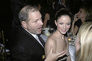 Georgina Chapman and Harvey Weinstein,  Charles Finch and Chanel 7th Anniversary Pre-Bafta party to celebratew A Great Year of Film and Fashiont at Annabel's. Berkeley Sq. London W1. 10 February 2007. -DO NOT ARCHIVE-© Copyright Photograph by Dafydd Jones. 248 Clapham Rd. London SW9 0PZ. Tel 0207 820 0771. www.dafjones.com.