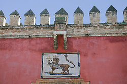 View of Lions gate at Alcazar palace