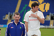 Steve Watkin (l) , Glamorgan coach yawning. Glamorgan county cricket club official photocall at the Swalec Stadium, Sophia Gardens in Cardiff on Wed 13th April 2011. pic by Andrew Orchard