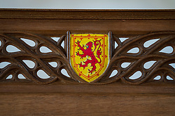 Detail of throne  at Stirling Castle, Stirling, Scotland UK