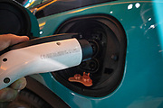 Plug in electric vehicle (PEV) charger, Los Angeles Auto show, California, USA