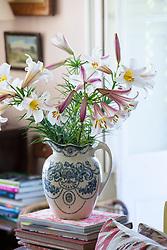 Arrangement of Lilium regale in the sitting room