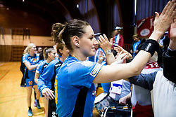 Alja Koren of RK Krim Mercator celebrates after the handball match between RK Krim Mercator and ZRK Z'Dezele Celje in Last Round of Slovenian National Championship 2016/17, on April 18, 2017 in Arena Galjevica, Ljubljana, Slovenia. Photo by Vid Ponikvar / Sportida