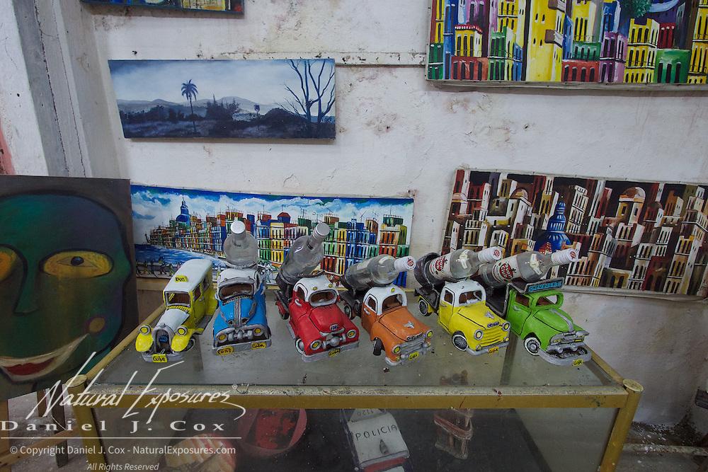 Local art studio in Havana