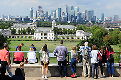 © Licensed to London News Pictures. 31/08/2018<br /> GREENWICH, UK.<br /> Bright weather with some cloud in London today as people enjoy the last day of August at Greenwich Park, Greenwich.<br /> Photo credit: Grant Falvey/LNP