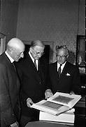 Presentation of Book of Durrow to President Eamon de Valera..06.09.1961