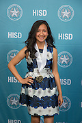 Mirayda Martinez poses for a photograph during the Scholars banquet, April 12, 2016.