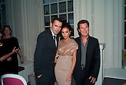 ROLAND MOURET; VICTORIA BECKHAM; SIMON FULLER, Alexandra Shulman, Editor of Vogue & Phil Popham, Managing Director of Land Rover<br /> host the 40th Anniversary of Range Rover. The Orangery at Kensington Palace. London. 1 July 2010. -DO NOT ARCHIVE-© Copyright Photograph by Dafydd Jones. 248 Clapham Rd. London SW9 0PZ. Tel 0207 820 0771. www.dafjones.com.