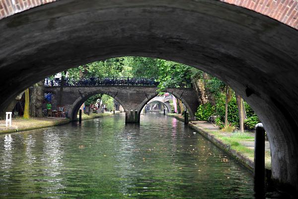 Nederland, Utrecht, 21-8-2012Doorkijkje vanaf het water.Foto: Flip Franssen