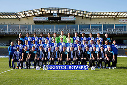 First Team Photo with additional staff and sponsors - Mandatory byline: Rogan Thomson/JMP - 07966 386802 - 07/09/2015 - FOOTBALL - Memorial Stadium - Bristol, England - Bristol Rovers Team Photos.