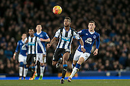 Rolando Aarons (Newcastle United) during the Barclays Premier League match between Everton and Newcastle United at Goodison Park, Liverpool, England on 3 February 2016. Photo by Mark P Doherty.