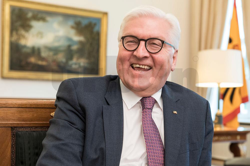 02 JUL 2018, BERLIN/GERMANY:<br /> Frank-Walter Steinmeier, Bundespraesident, waehrend einem Interview, Amtszimmer des Bundespraesidenten, Schloss Bellevue<br /> IMAGE: 20180702-01-006<br /> KEYWORDS: Bundespräsident