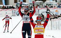 Kristin Stoermer Steira (NOR), Justyna Kowalczyk (POL) und Marit Bjoergen (NOR) (Pascal Muller/EQ Images)