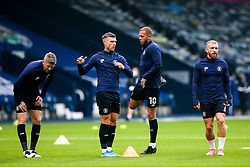 Jonathan Stead, Jack Muldoon, Aaron Martin and George Thomson of Harrogate Town warm up - Mandatory by-line: Robbie Stephenson/JMP - 16/09/2020 - FOOTBALL - The Hawthorns - West Bromwich, England - West Bromwich Albion v Harrogate Town - Carabao Cup