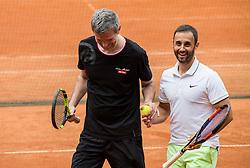 Tomaz Berlocnik and Aljaz Kos at Petrol VIP tournament 2018, on May 24, 2018 in Sports park Tivoli, Ljubljana, Slovenia. Photo by Vid Ponikvar / Sportida