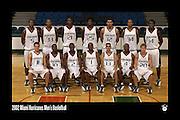 2002 Miami Hurricanes Men's Basketball Team Photo