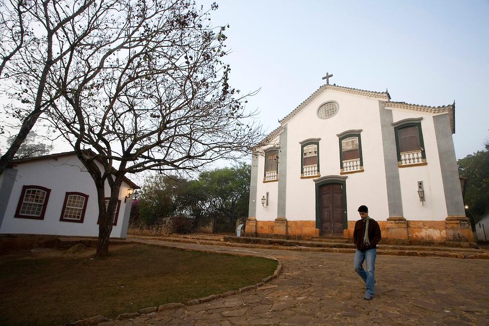 Tiradentes _ MG, Brasil...Capela Sao Joao Evangelista em Tiradentes, Minas Gerais...The Sao Joao Evangelista Chapel in Tiradentes, Minas Gerais.. .Foto: JOAO MARCOS ROSA / NITRO