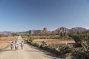 Road to Hawzen, Gheralta area, Tigray, Ethiopia, Horn of Africa