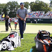 Jordan Spieth, USA, after completing the first round on the ninth hole during The Barclays Golf Tournament at The Plainfield Country Club, Edison, New Jersey, USA. 27th August 2015. Photo Tim Clayton