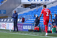 Nottingham Forest's Manager Chris Hughton looks on during the EFL Sky Bet Championship match between Cardiff City and Nottingham Forest at the Cardiff City Stadium, Cardiff, Wales on 2 April 2021.